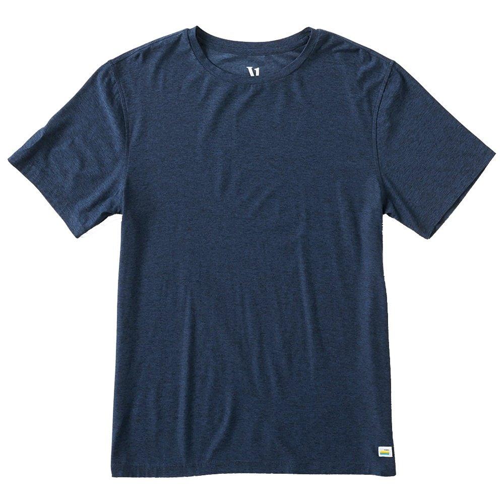 Vuori Strato Tech Tee Running Shirt (Men's) - Navy Heather