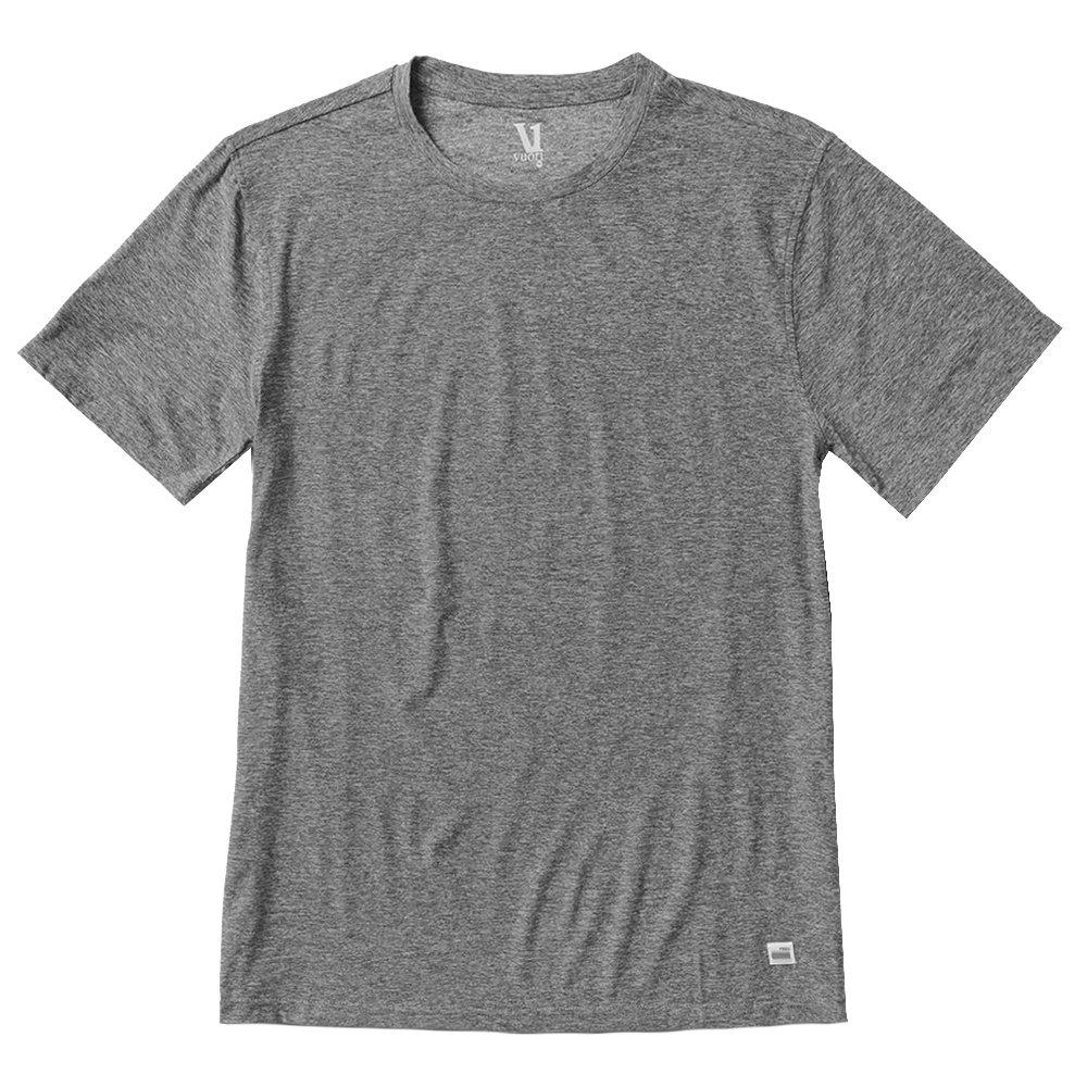 Vuori Strato Tech Tee Running Shirt (Men's) - Heather Grey