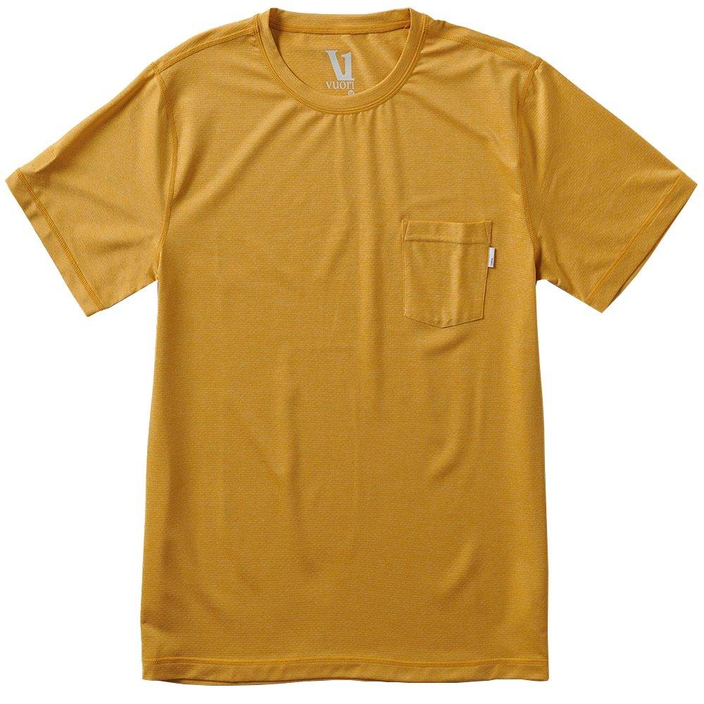 Vuori Tradewind Performance Tee Running Shirt (Men's) - Saffron Heather