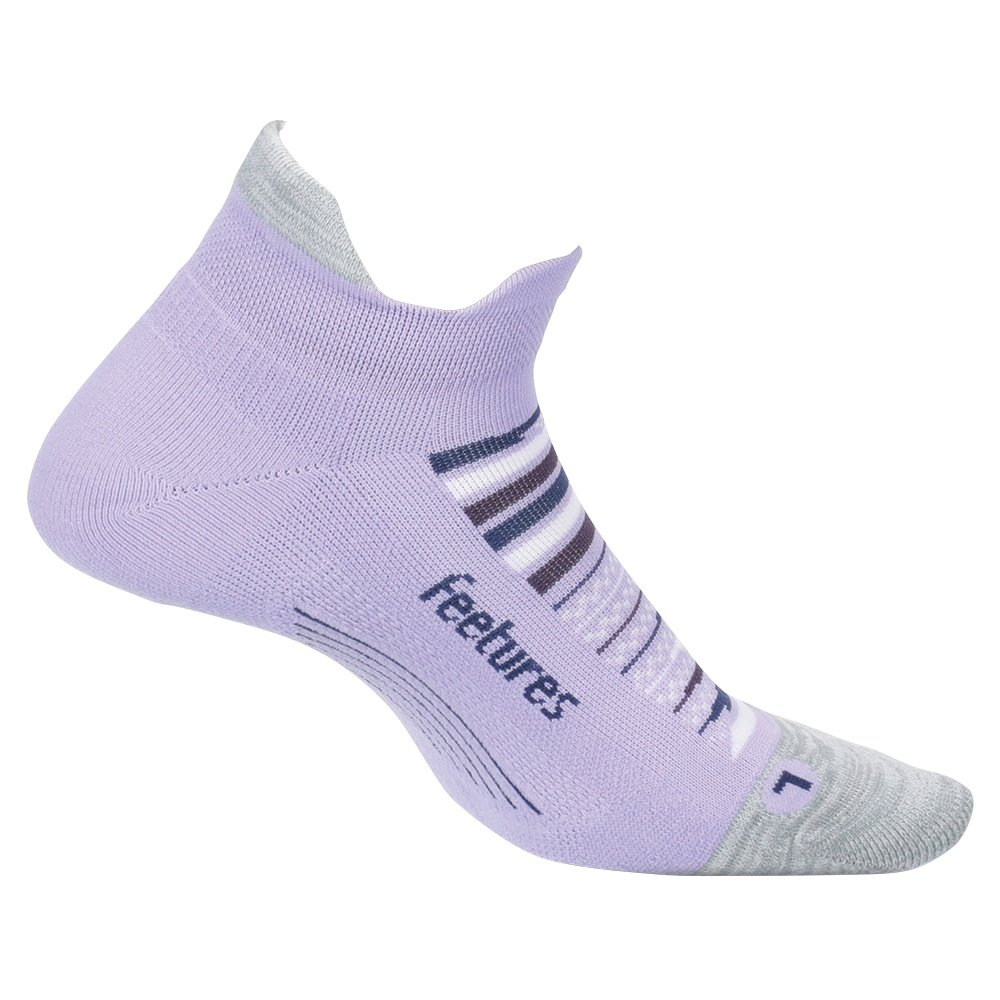 Feetures Elite Light Cushion No Show Tab Running Sock (Adults') - Purple Horizon