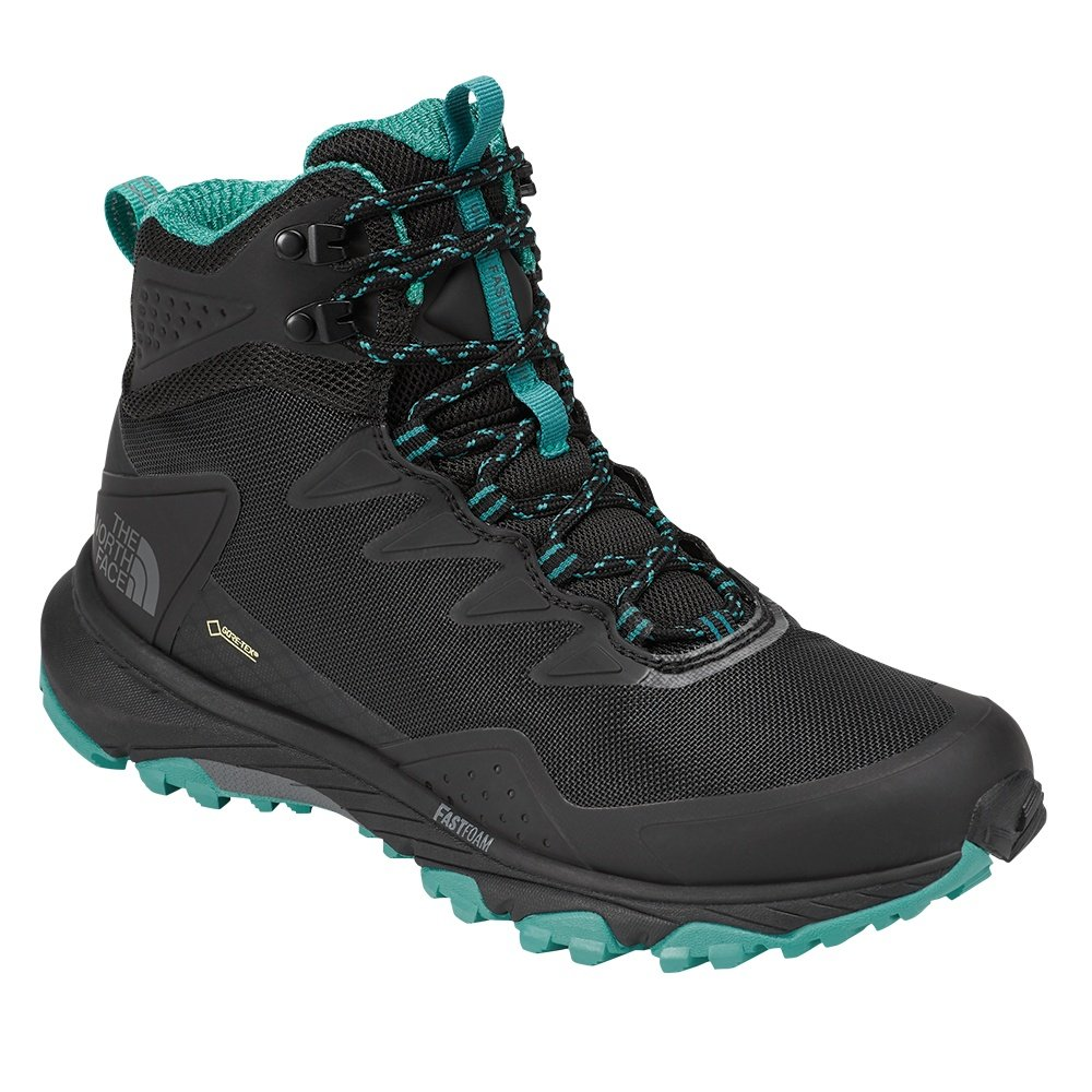 North Face Ultra Fastpack III Mid GORE-TEX Hiking Boot (Women's) - TNF Black/Porcelain Green