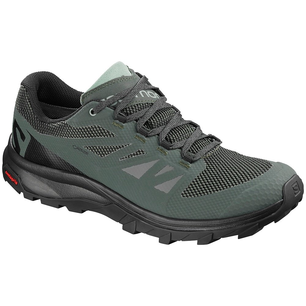 Salomon OUTline GORE-TEX Trail Running Shoe (Men's) - Urban Chic/Black/Green Milieu