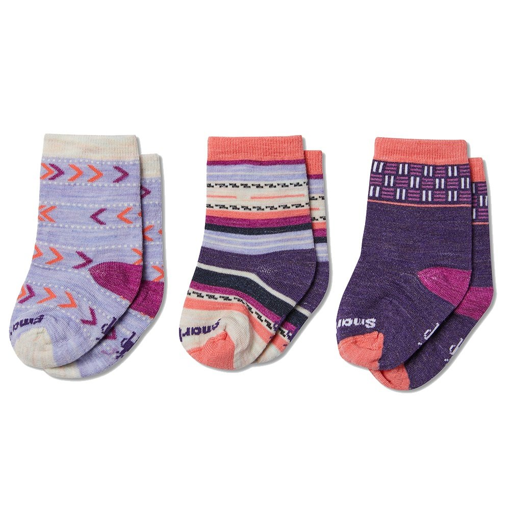 SmartWool Toddler Trio Socks (Little Kids') - Meadow Mauve