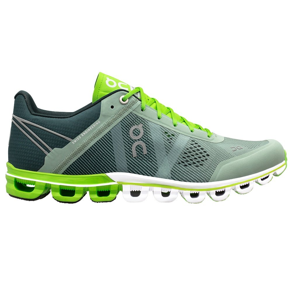On Cloudflow Running Shoe (Men's) - Moss/Lime