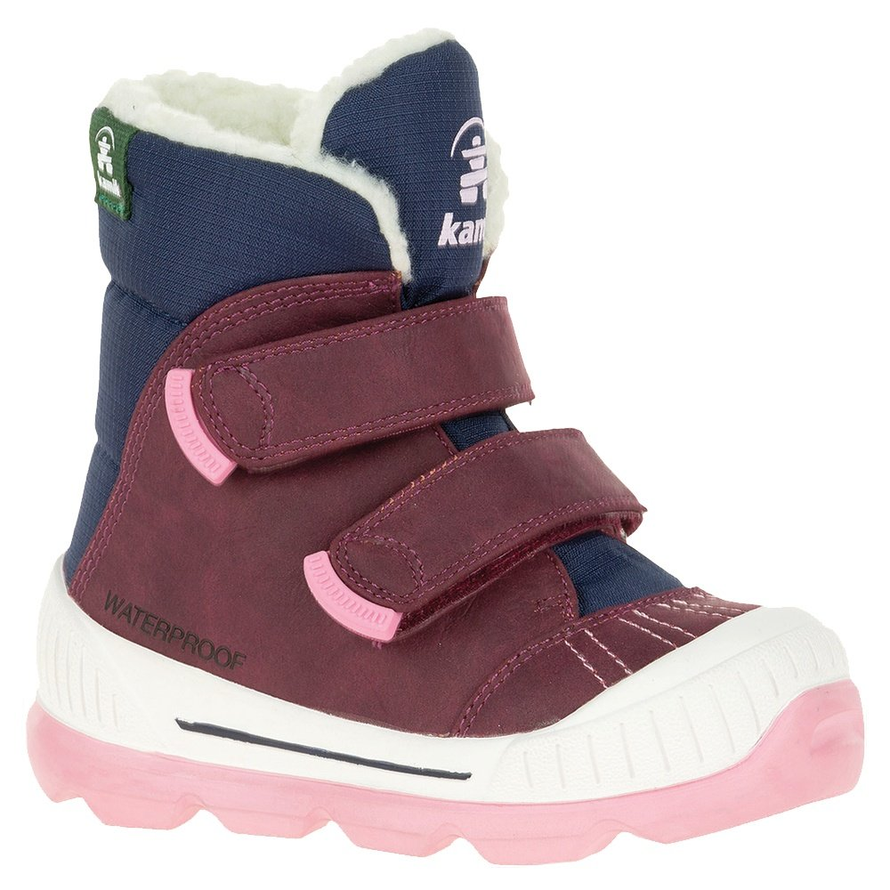 Kamik Parker 2 Snow Boot (Little Kids') - Plum/Navy/Pink