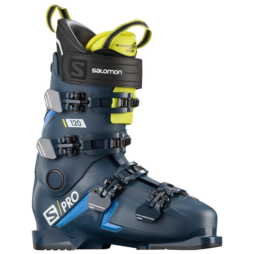 Salomon S/Pro 120 Ski Boot (Men's) - Petrol Blue/Race Blue/Acid Green