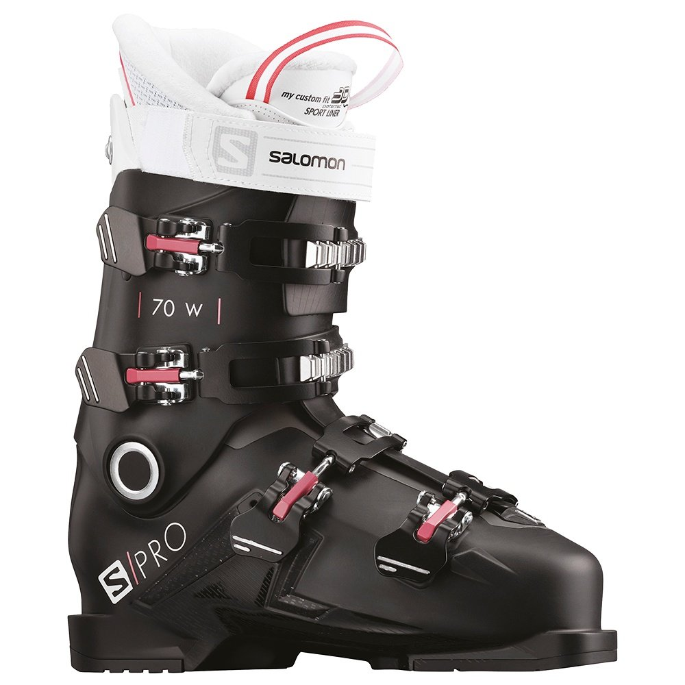 Salomon S/Pro 70 Ski Boot (Women's) - Black/Garnet Pink/White