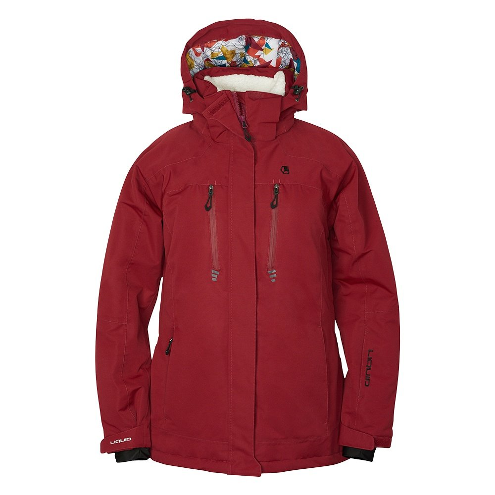Liquid Terza Insulated Snowboard Jacket (Women's) - Rhubarb