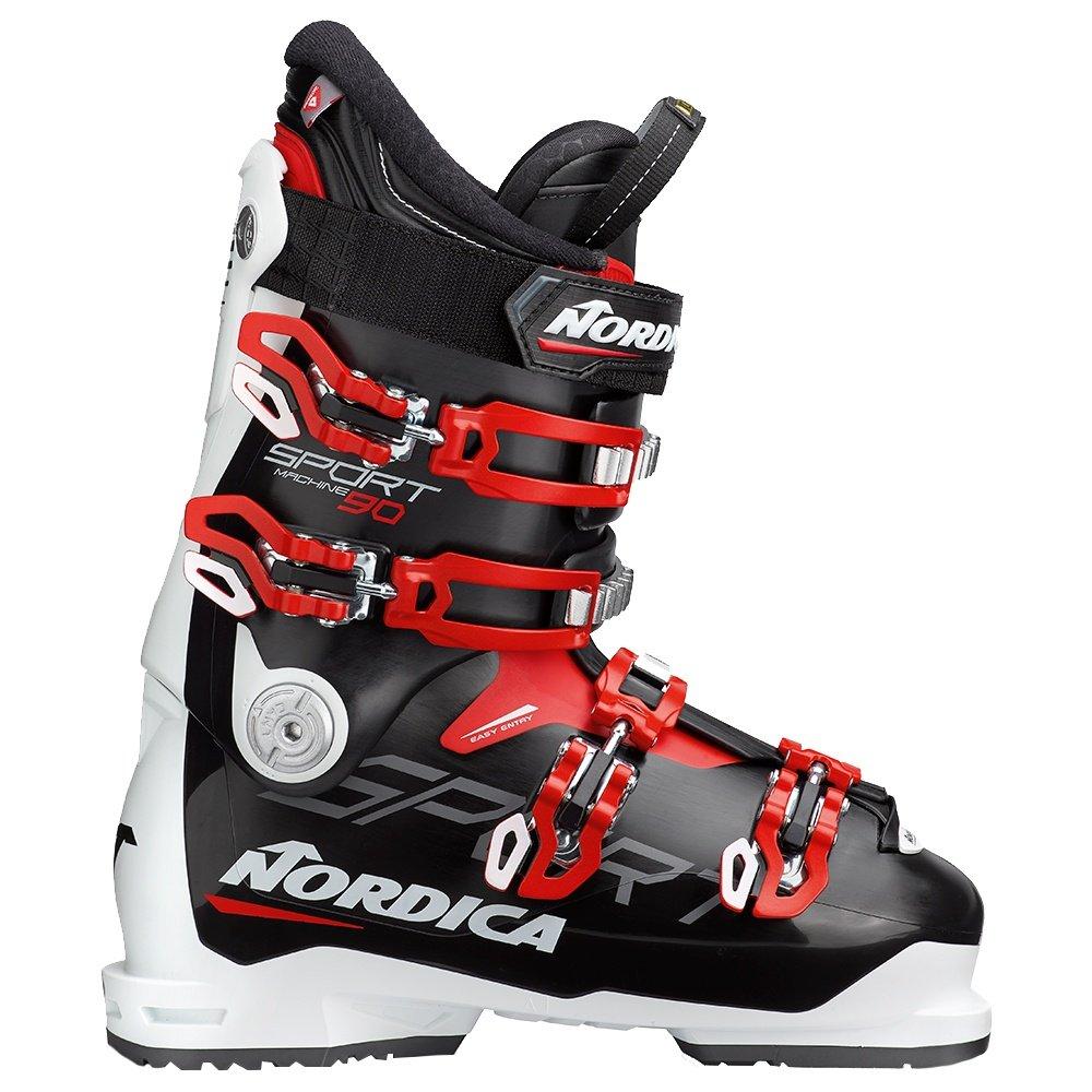 Nordica Sportmachine 90 Ski Boot (Men's) - Black/White/Red