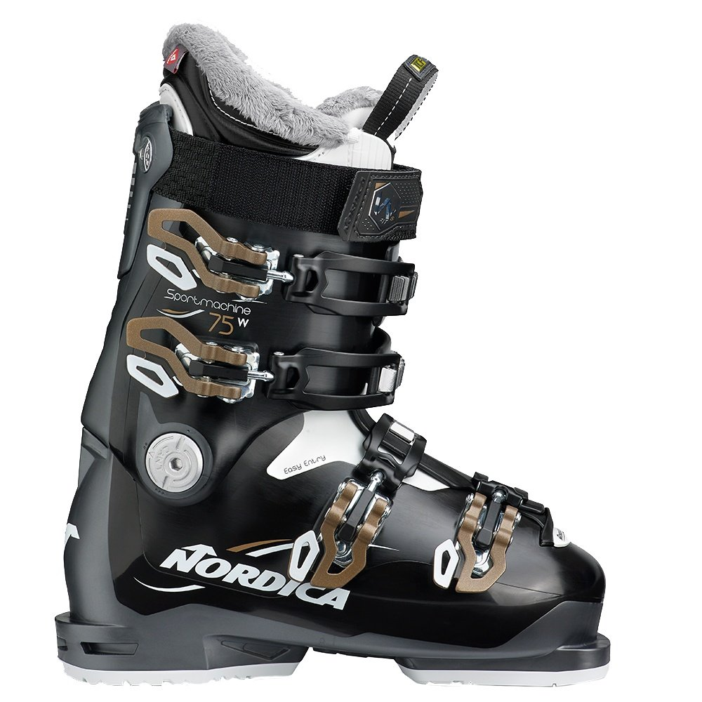 Nordica Sportmachine 75 Ski Boot (Women's) - Black/Anthracite/Bronze