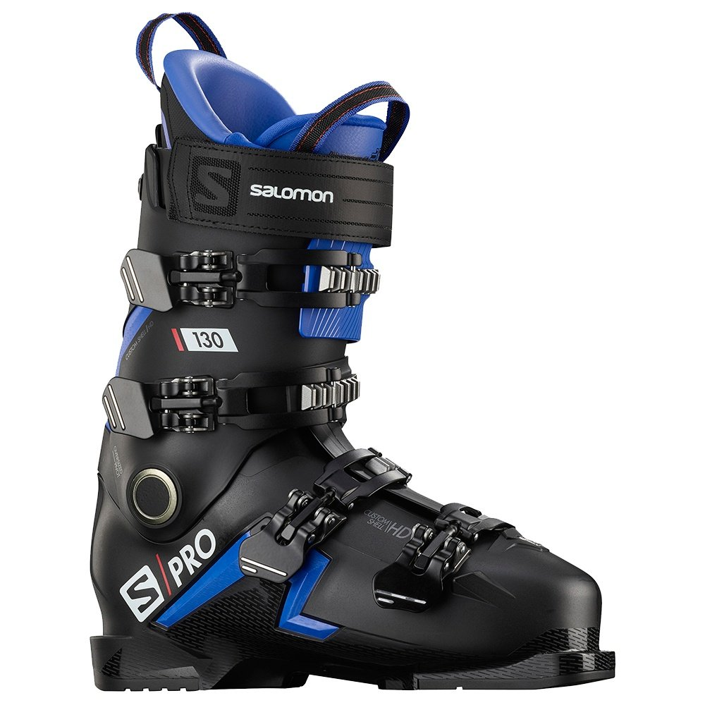 Salomon S Pro 130 Ski Boot (Men's) - Black/Race Blue/Red