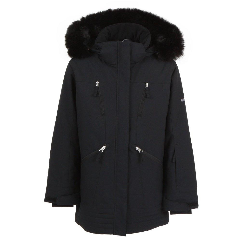 Karbon Nixie Insulated Ski Jacket with Faux Fur (Girls') - Black