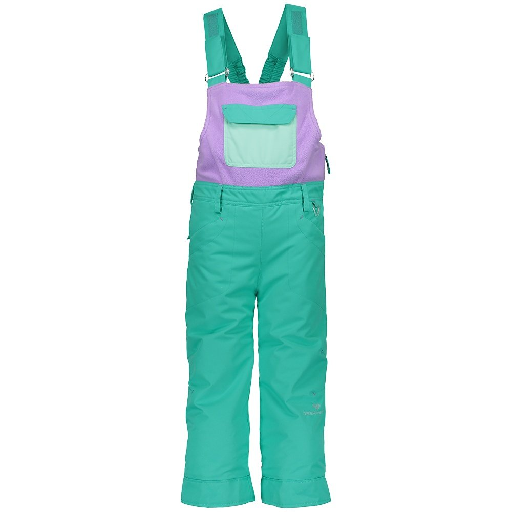 Obermeyer Disco Insulated Ski Bib (Little Girls') - Glacier Pool