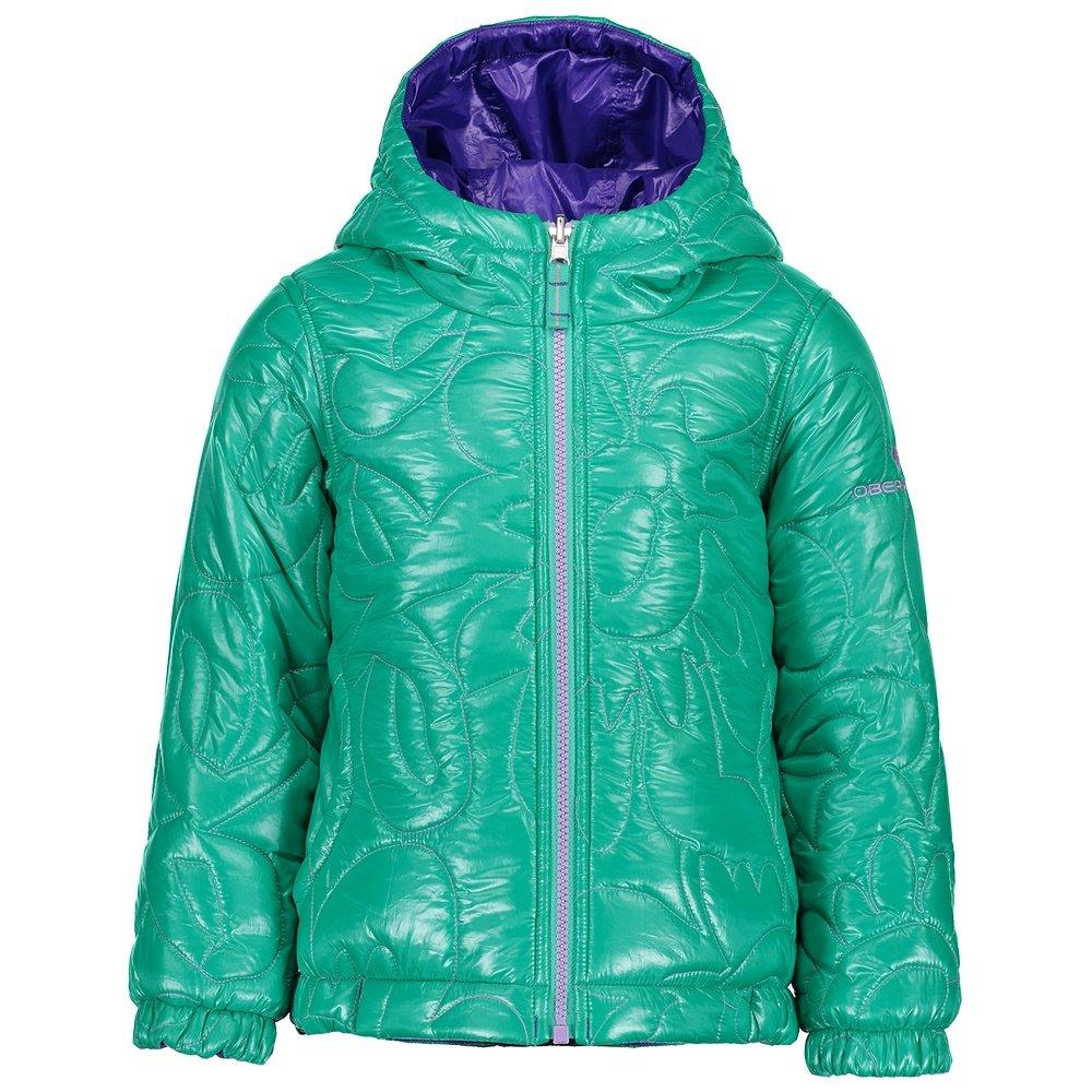 Obermeyer Nifty Reversible Insulator Jacket (Little Girls') - Glacier Pool