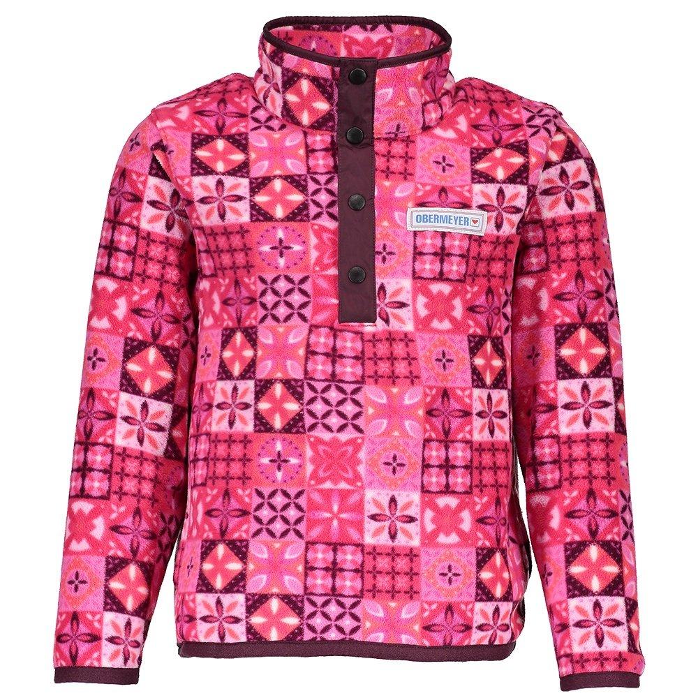 Obermeyer Boulder Fleece Mid-Layer (Little Girls') - Blushing Talavera Tile