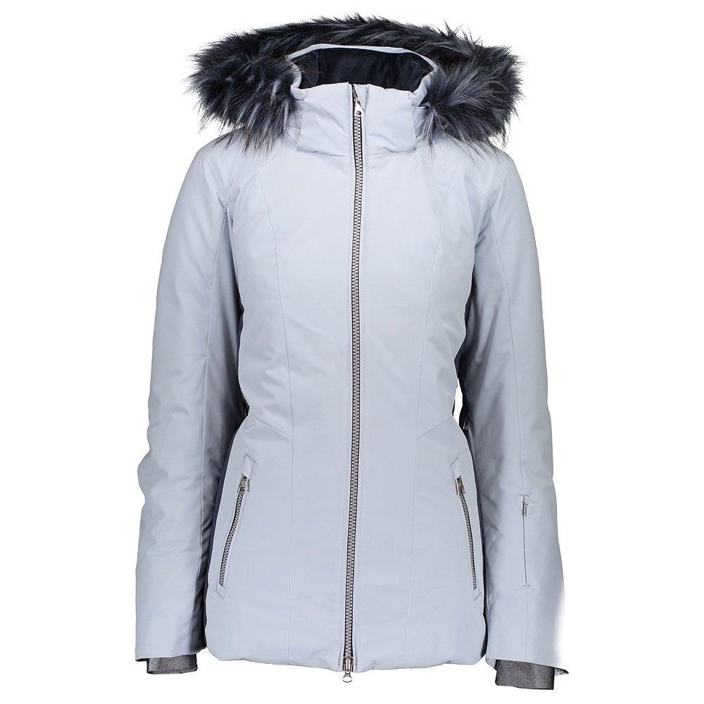 Obermeyer Siren Insulated Ski Jacket with Faux Fur (Women's) - Ice Ice baby