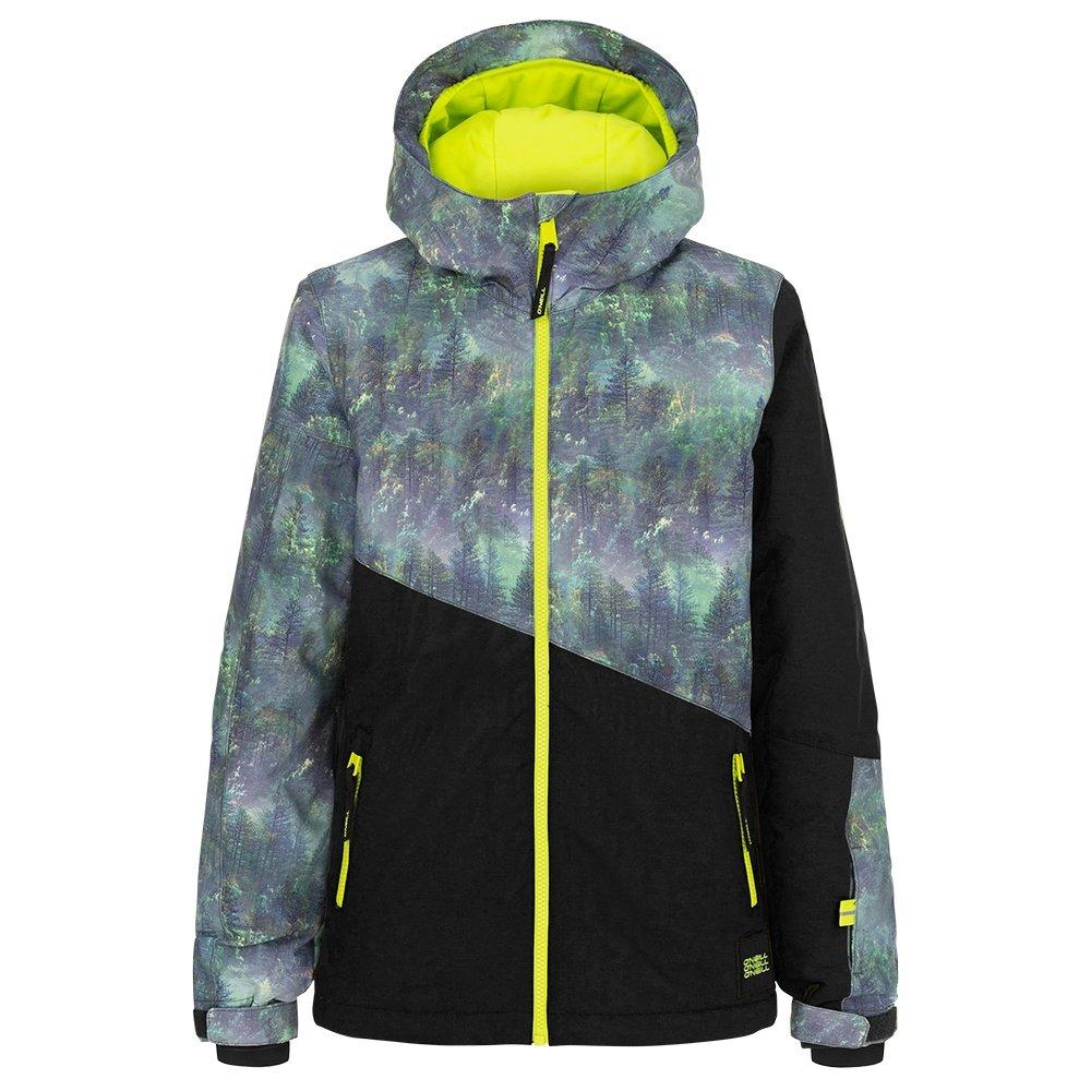 O'Neill Halite Insulated Snowboard Jacket (Boys') - Black AOP