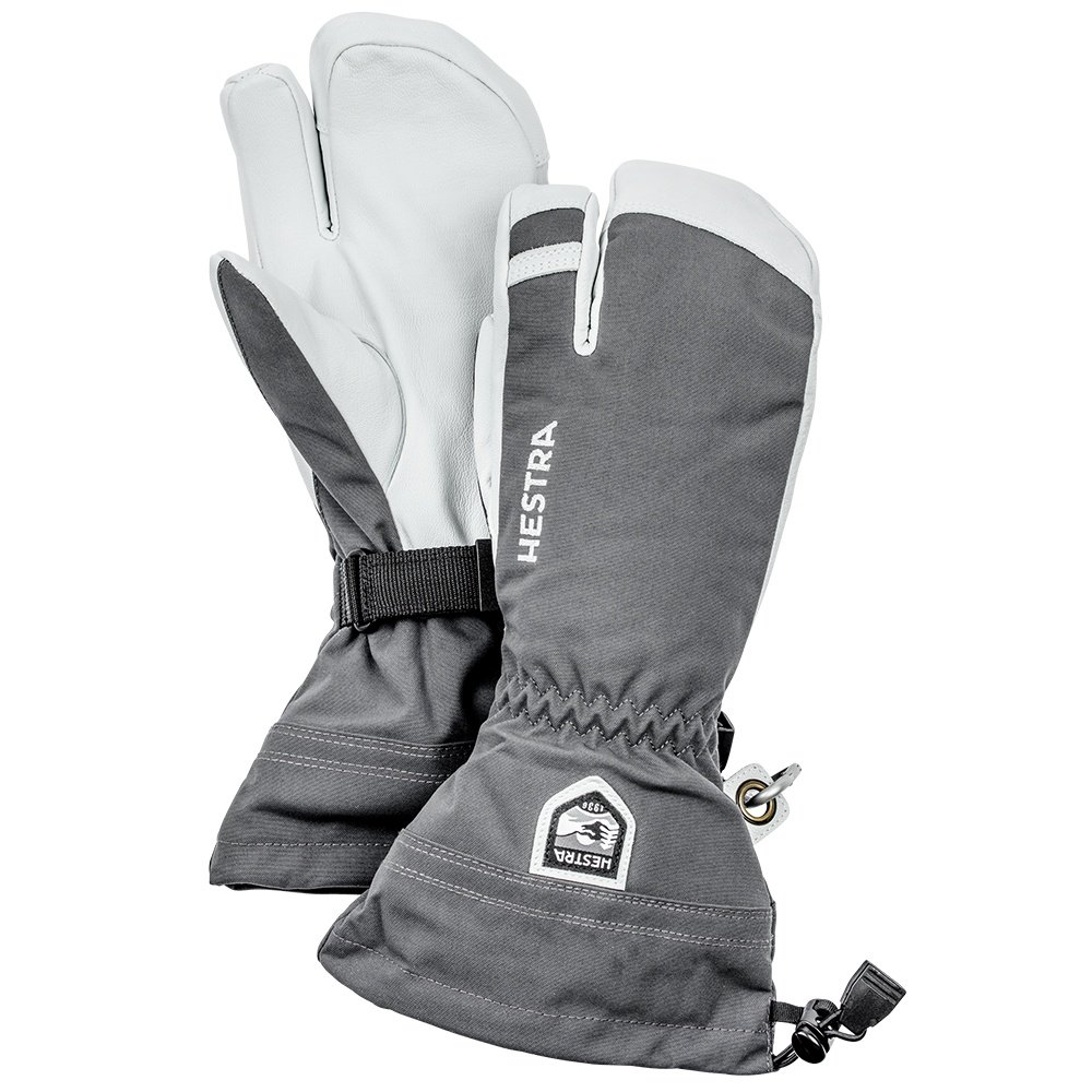 Hestra Army Leather Heli Ski 3-Finger Glove (Men's) - Gray