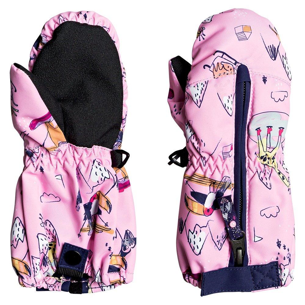 Roxy Snows Up Mitten (Little Girls') - Prizm Pink Snow Trip