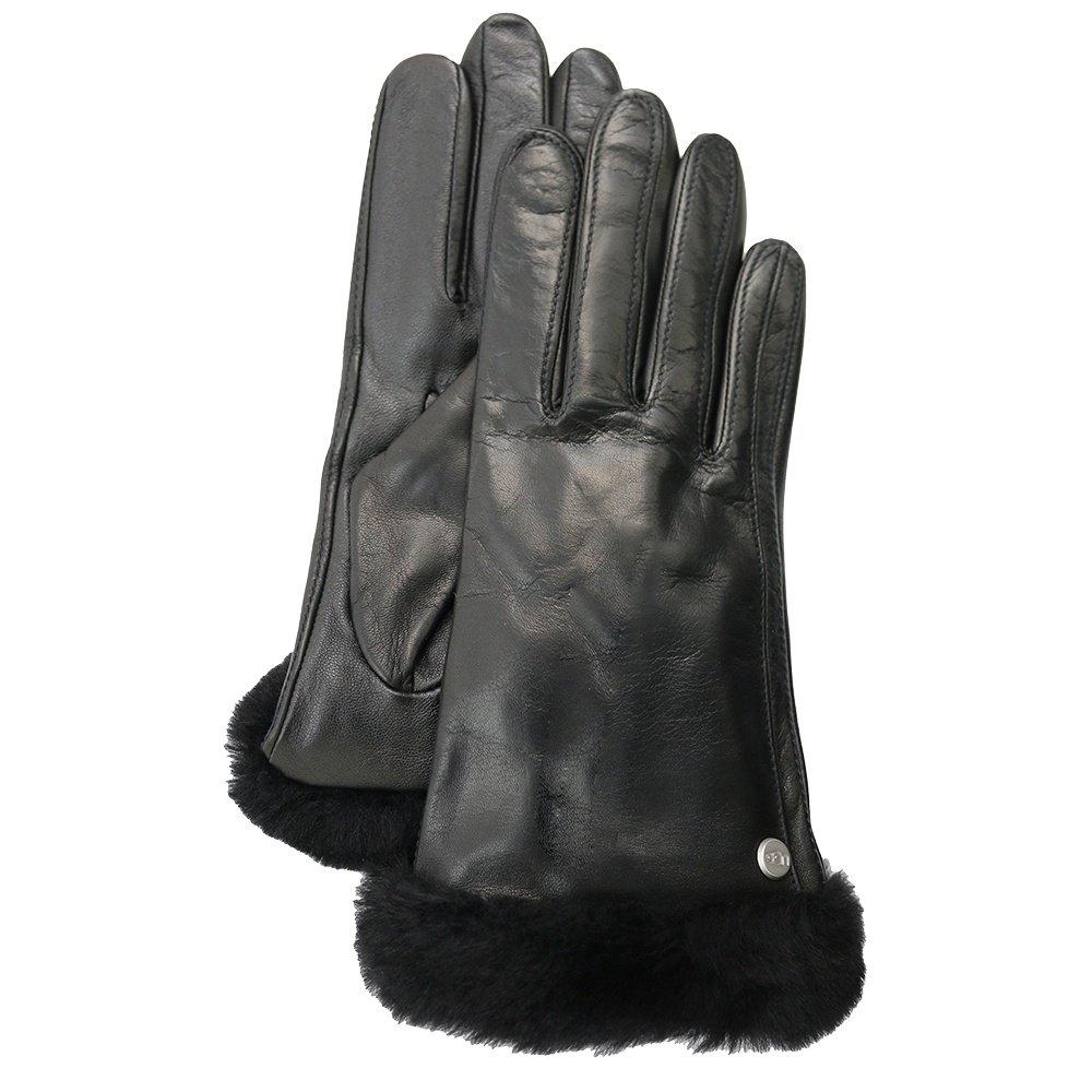 UGG Classic Leather Shorty Tech Glove (Women's) - Black