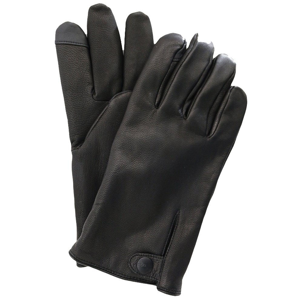 UGG Tabbed Splice Vent Leather Glove (Men's) - Black