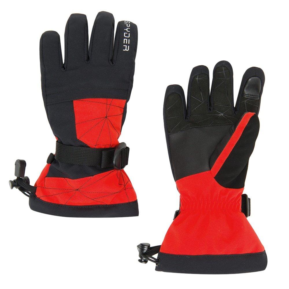 Spyder Overweb Ski Glove (Boys') - Volcano