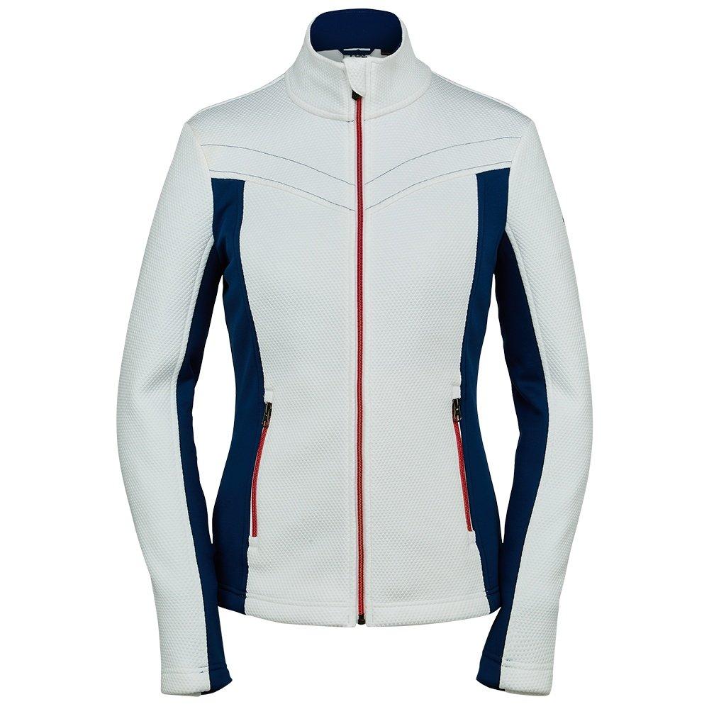 Spyder Encore Full Zip Fleece Jacket (Women's) - White/Abyss