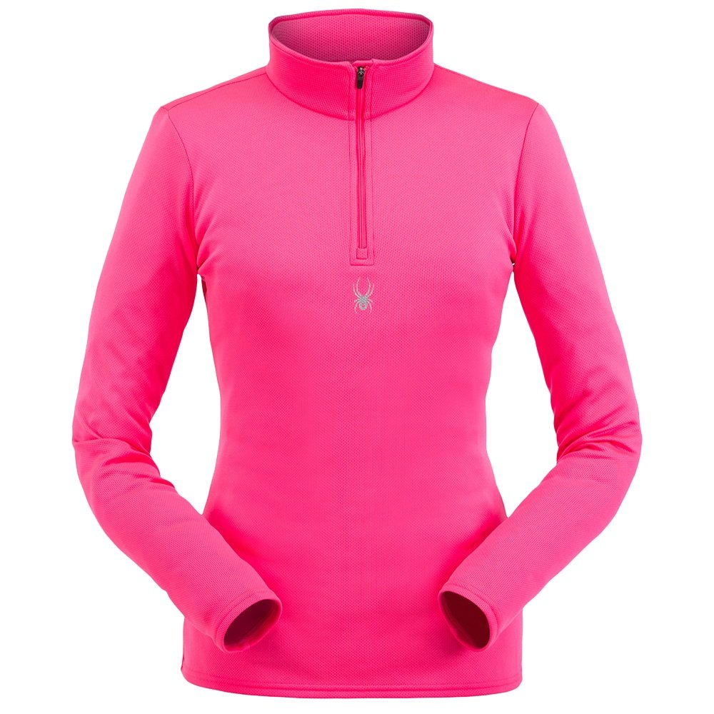 Spyder Tempting 1/4-Zip Turtleneck Mid-Layer (Women's) - Bryte Bubblegum