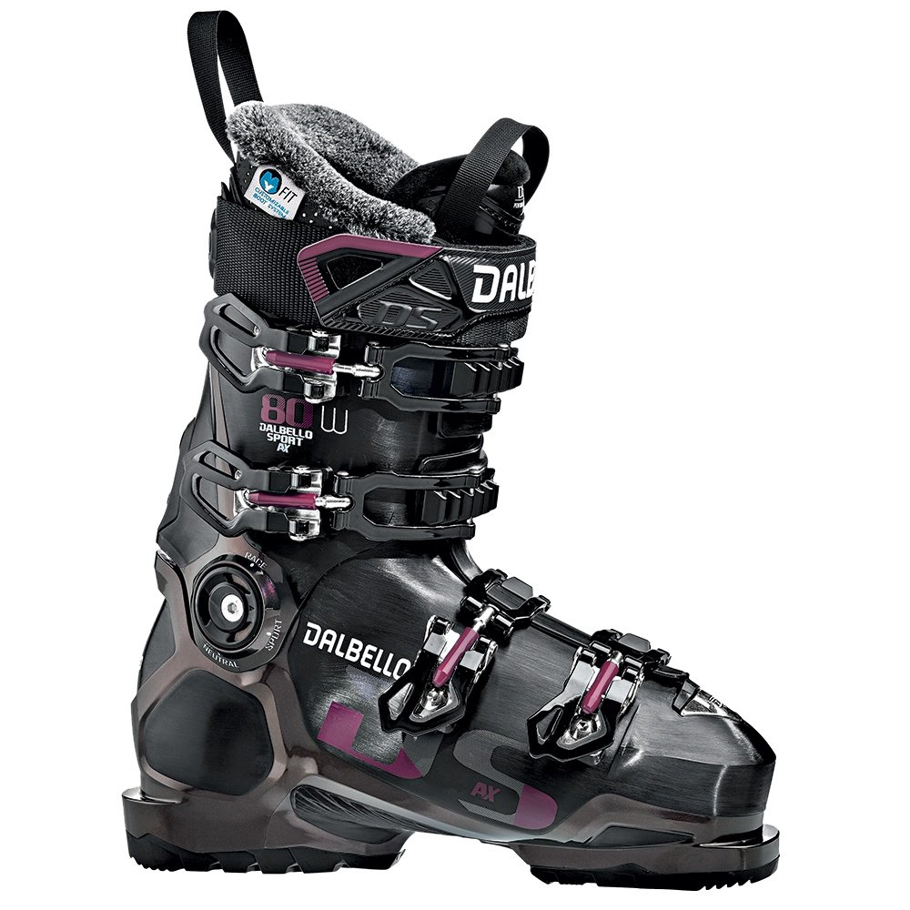 Dalbello DS AX 80 Ski Boot (Women's) - Black/Opal/Ruby