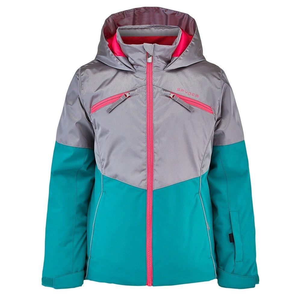 Kids Full Zip Hooded Winter Coat Spyder Girl/'s Conquer Ski Jacket
