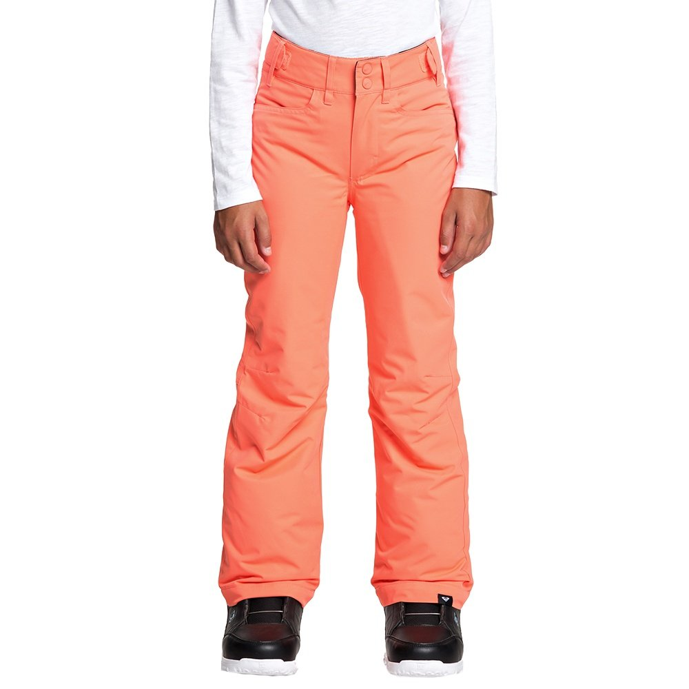 Roxy Backyard Insulated Snowboard Pant (Girls') - Living Coral