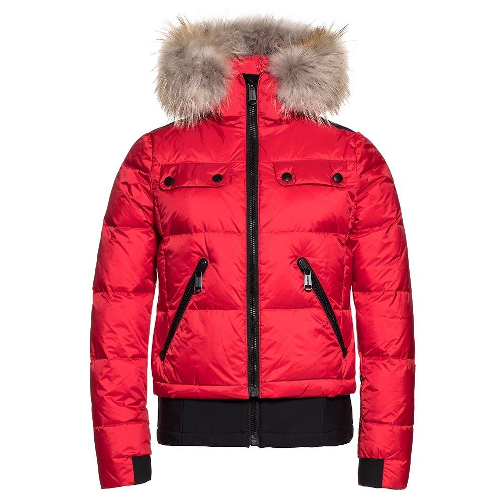 Goldbergh Ljot Down Ski Jacket with Real Fur (Women's) - Lava