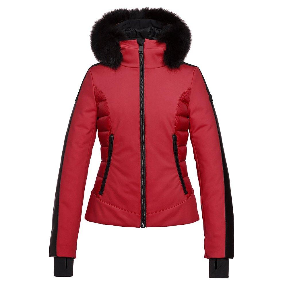 Goldbergh Kaja Down Ski Jacket with Real Fur (Women's) - Scarlet
