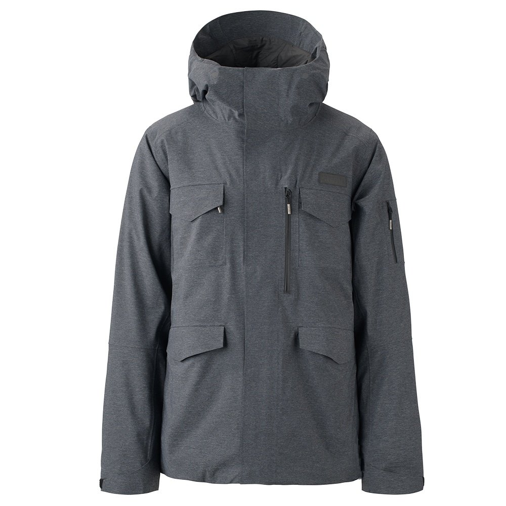 Strafe Conundrum Insulated Ski Jacket (Men's) - Heather Black