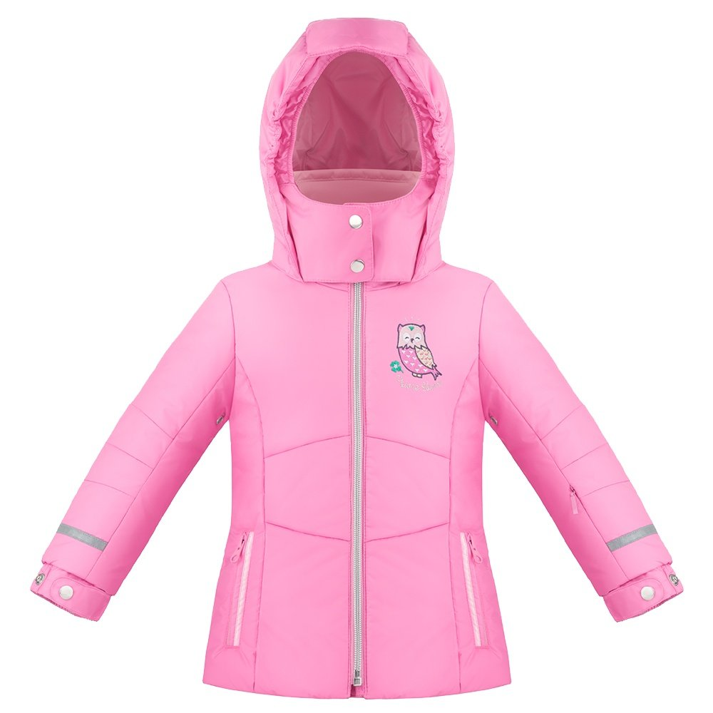 Poivre Blanc Owl Insulated Ski Jacket (Little Girls') - Fever Pink