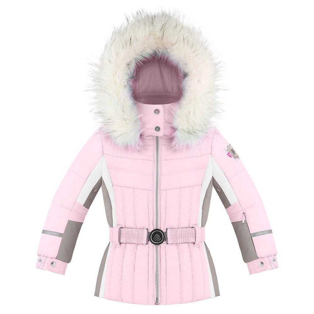Poivre Blanc Princess Ski Jacket with Faux Fur (Little Girls') - Angel Pink/Multi