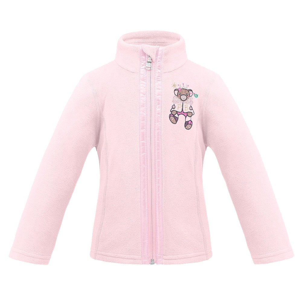 Poivre Blanc Furry Friends Fleece Jacket (Little Girls') - Angel Pink
