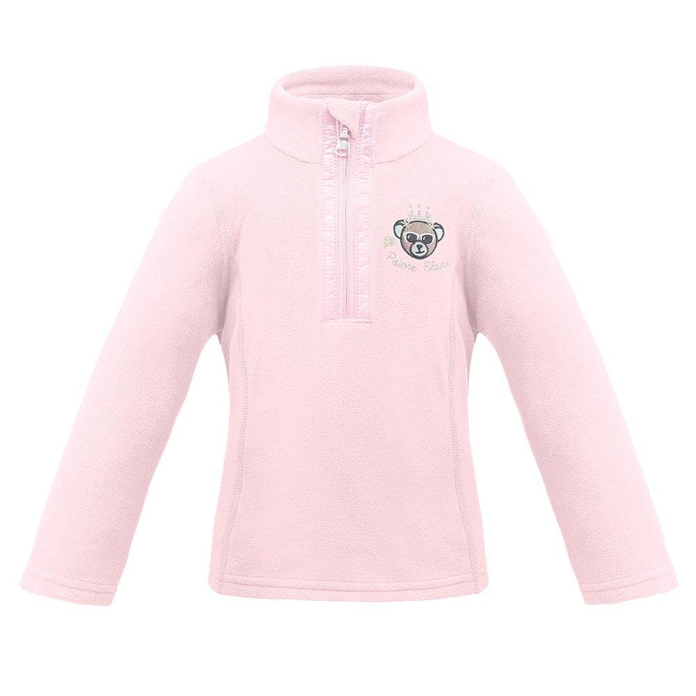 Poivre Blanc Princess Bear Fleece 1/4-Zip Mid-Layer (Little Girls') - Angel Pink