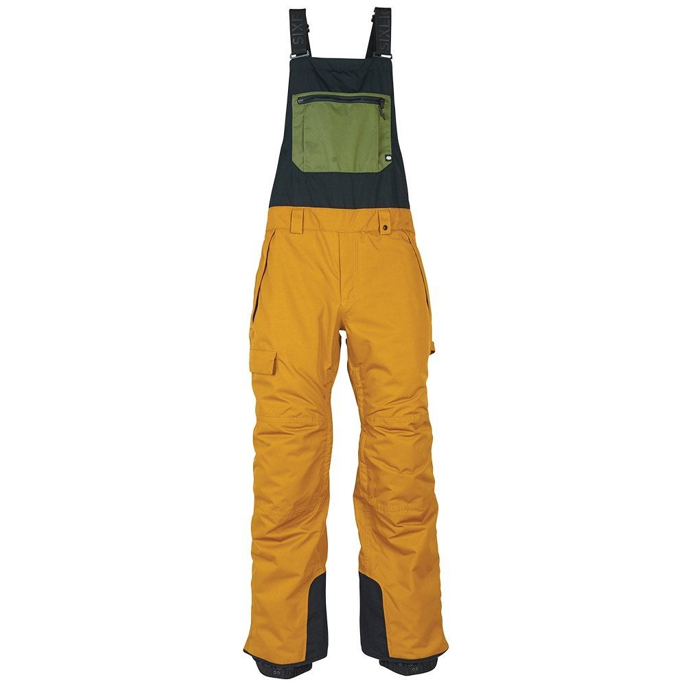 686 Hot Lap Insulated Bib (Men's) - Golden Brown Colorblock