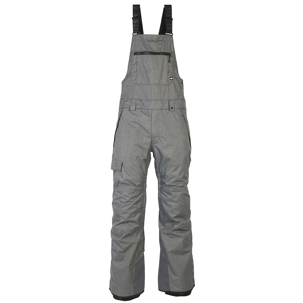 686 Hot Lap Insulated Bib (Men's) - Grey Melange