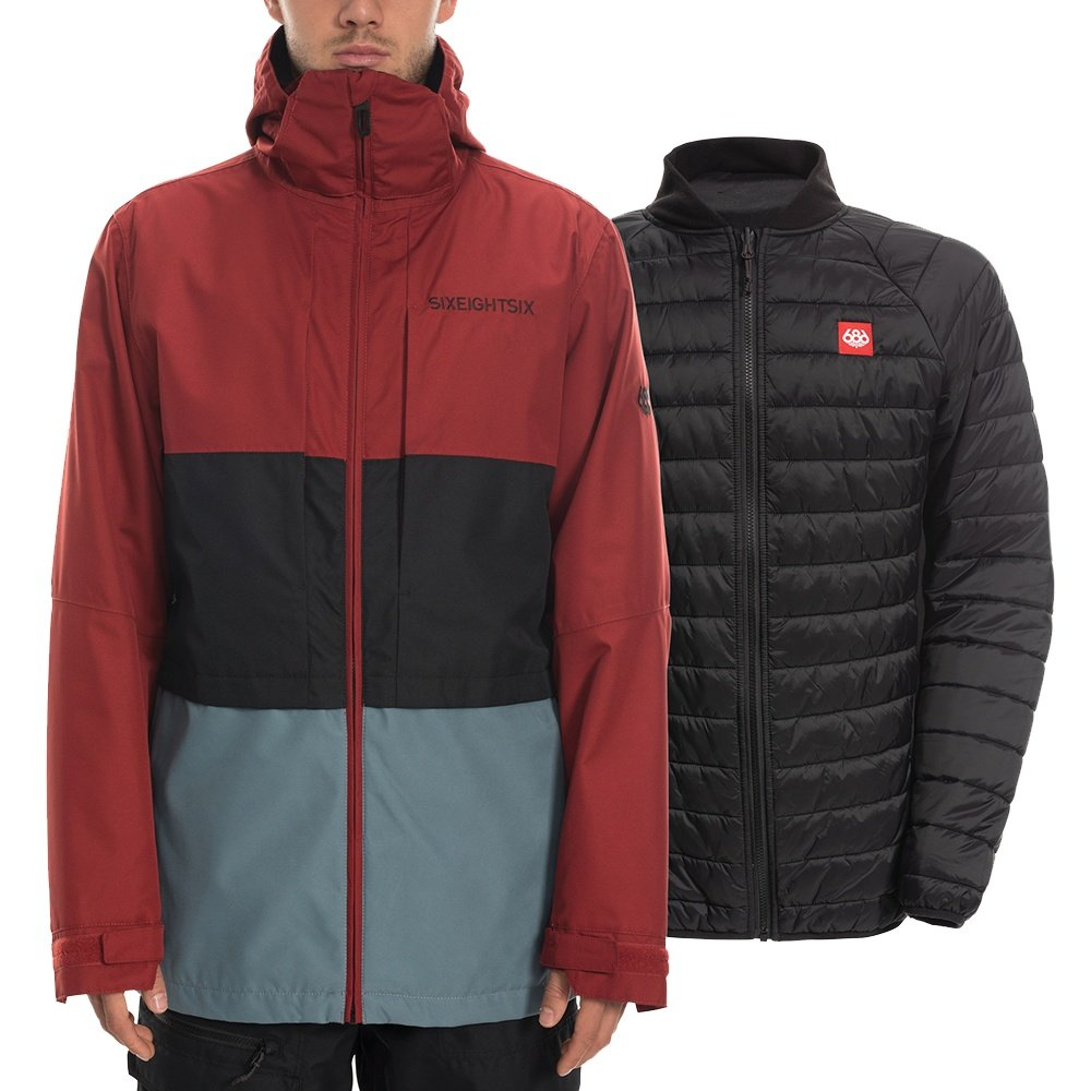 686 Smarty Form 3-in-1 Snowboard Jacket (Men's) - Rusty Red