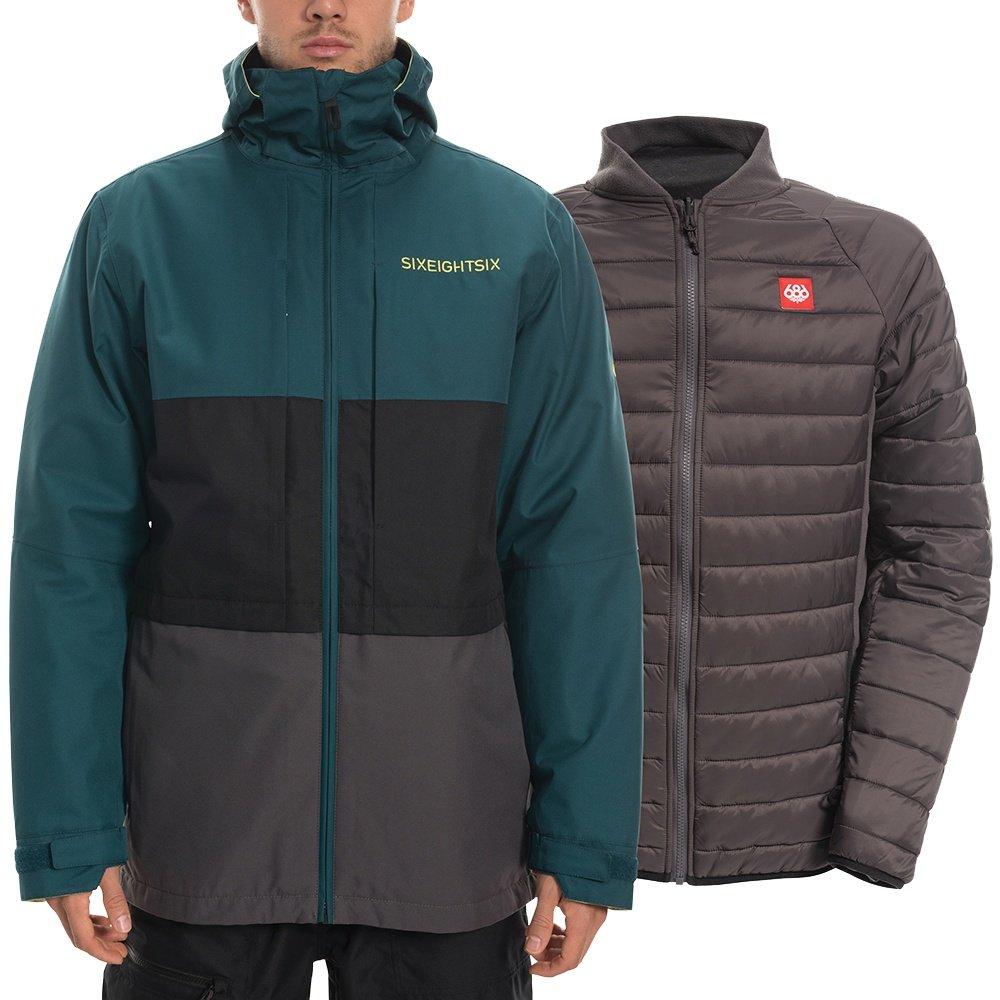 686 Smarty Form 3-in-1 Snowboard Jacket (Men's) - Deep Teal Colorblock