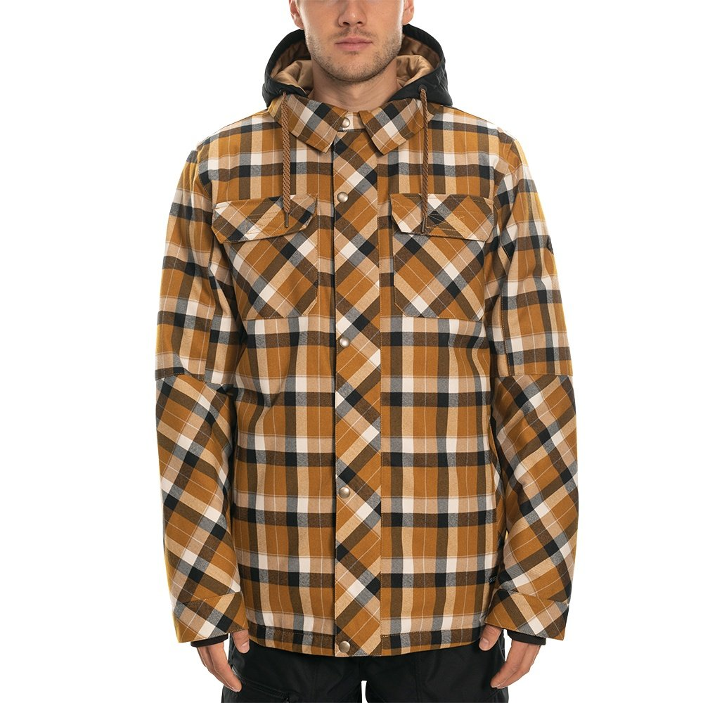 686 Woodland Insulated Snowboard Jacket (Men's) - Golden Brown Plaid
