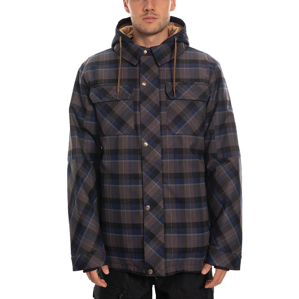 686 Woodland Insulated Snowboard Jacket (Men's) - Navy Plaid