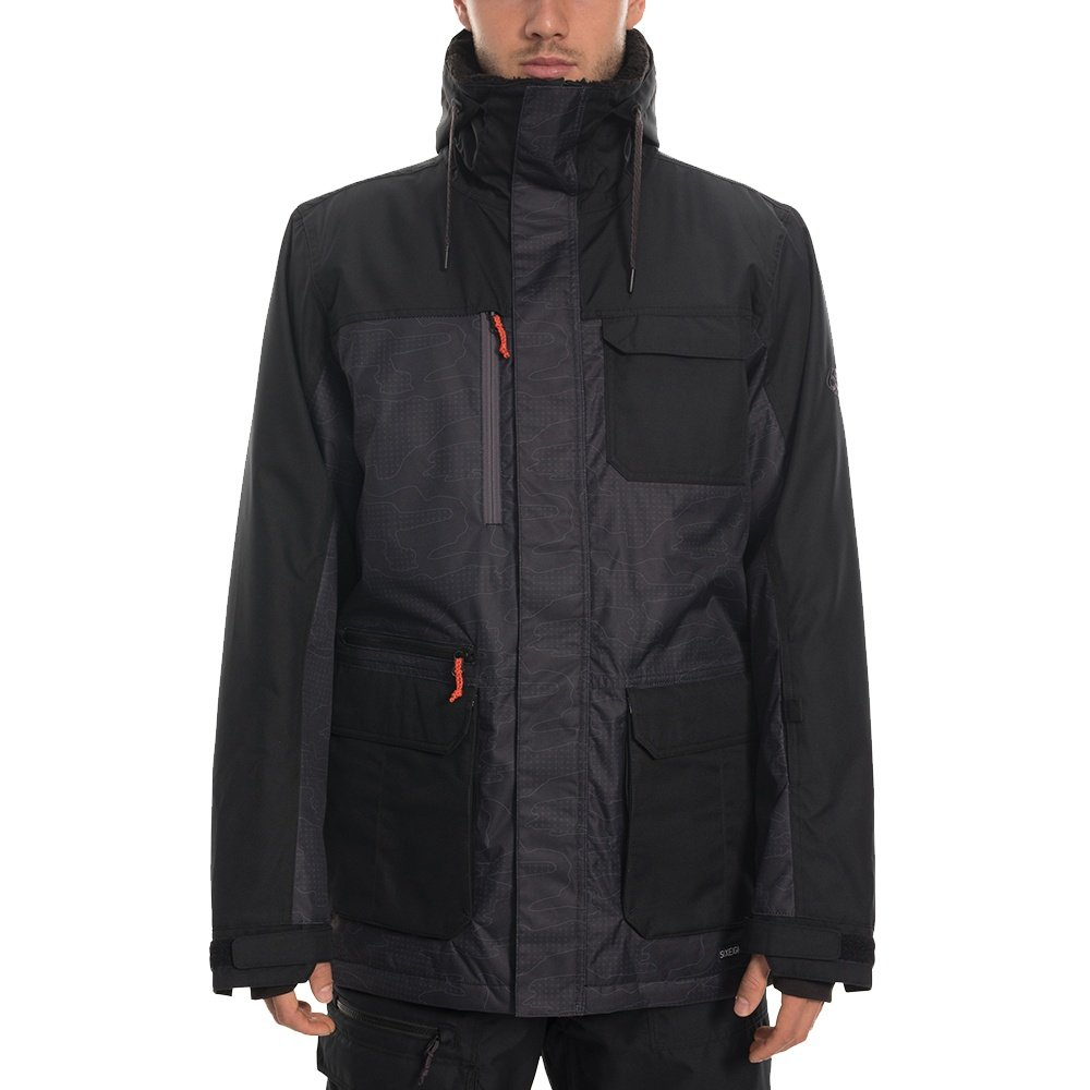 686 Sixer Insulated Snowboard Jacket (Men's) - Black Topo Colorblock