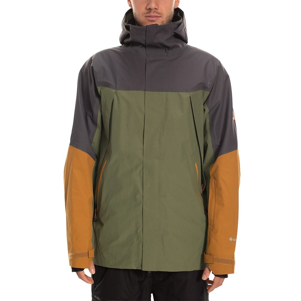 686 GLCR Stretch GORE-TEX Zone Thermagraph Insulated Snowboard Jacket (Men's) - Surplus Green Colorblock
