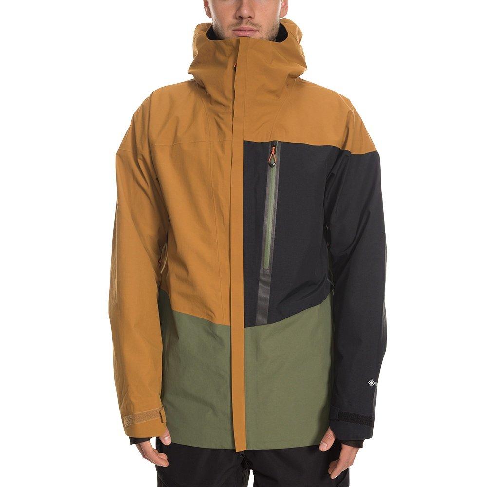 686 GLCR GORE-TEX GT Shell Snowboard Jacket (Men's) - Golden Brown Colorblock