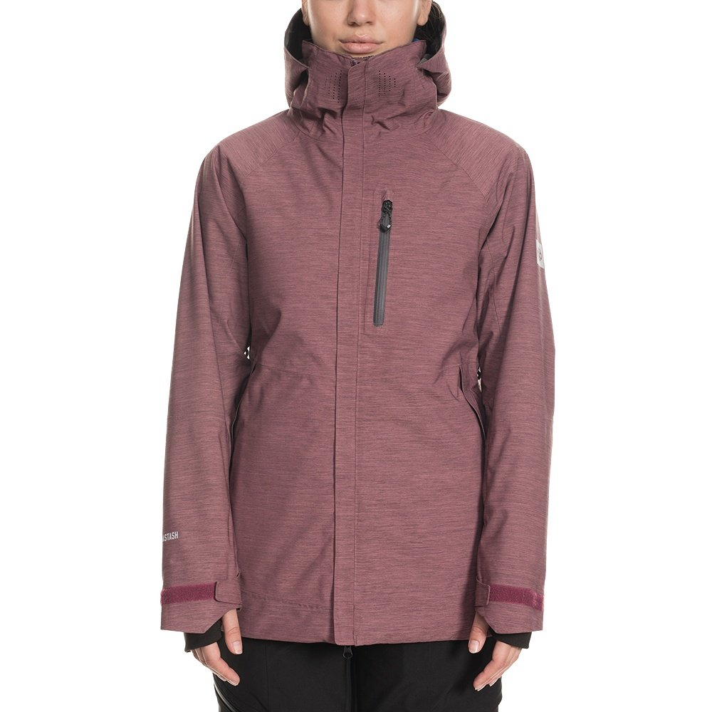 686 Hydrastash Reservoir Insulated Snowboard Jacket (Women's) - Crushed Berry Heather