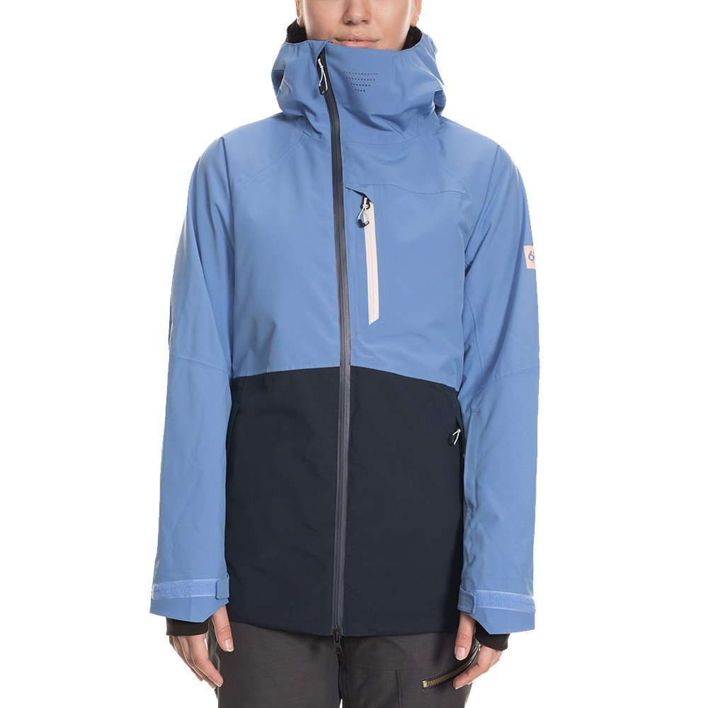 686 Hydra Insulated Snowboard Jacket (Women's) - Washed Indigo Colorblock