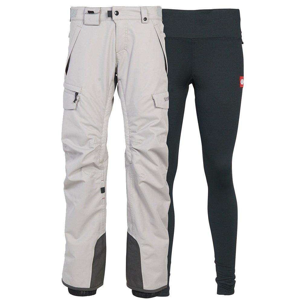 686 Smarty 3-in-1 Cargo Snowboard Pant (Women's) - Light Grey